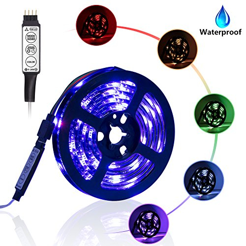 Led Light Strip Battery Powered, XYOP 2M/6.6FT Waterproof Flexible RGB Led Strip Lights, SMD 5050 Led Strip Color Changing Rope Lights, Led Strip Light Kit for Home Outdoor Craft Hobby Light