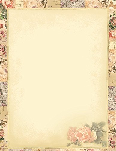 "Great Papers! Floral Collage Letterhead, 80 Count, 8.5""x11"" (2014264)"