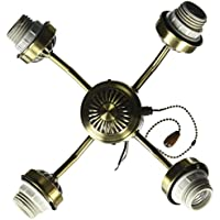 Emerson Ceiling Fans F440AB 4-Light Arm Fitter in Antique Brass