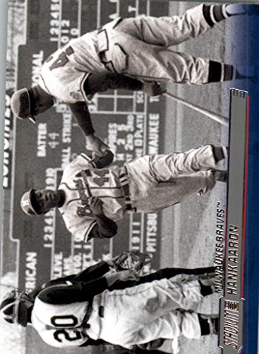 2014 Stadium Club Milwaukee Braves Baseball Card #44 Hank Aaron - Milwaukee Braves Stadium