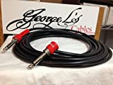 George L's 10' .225 Guitar Bass Cable BLACK / RED