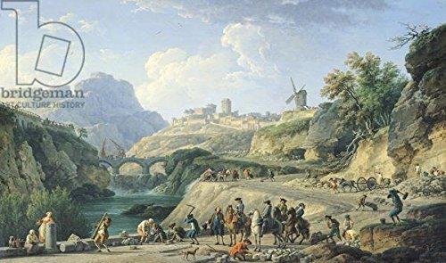 Leinwand Bild 120 X 70 Cm The Construction Of A Road 1774 Oil On