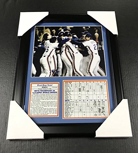 11X14 FRAMED 1986 NEW YORK METS WORLD SERIES CHAMPS 8X10 PHOTO -
