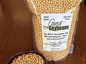 Laura Soybeans by SoyaJoy- 5 Lbs New Crop Non-gmo From Iowa for Best Soy Milk