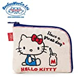 Sanrio Hello Kitty × BOOFOOWOO coin purse Unbleached From Japan New