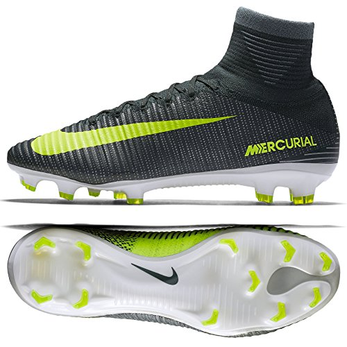 Nike Mercurial Superfly V CR7 FG 852511-376 Seaweed/Volt/White Men Soccer Cleats (size (Nike Nike Mercurial Superfly)