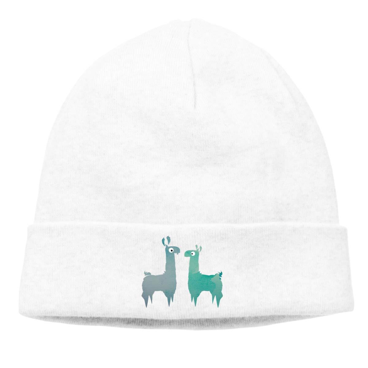 nordic runes Llama Alpaca Beanie Hat Winter Warm Knit Skull Cap for Mens//Womens