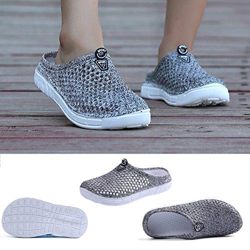 Comfortable Ryanmay Womens Slippers Mens Sandals Grey Drying Garden Shoes Quick Walking qHEErwA