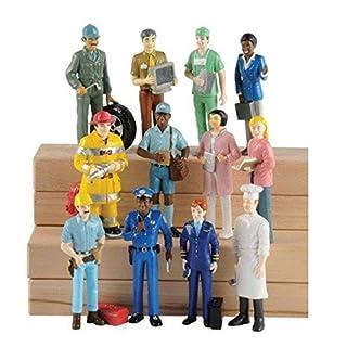 Marvel Education Pretend Professionals Career Doll Figures, Toy Figures for Kids, Set of 12
