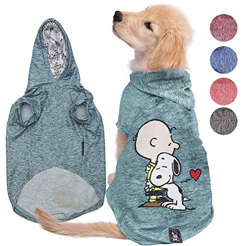 (Peanuts Snoopy Dog Hoodie Sweatshirt (Lightweight)  Hoodies for Dogs and Cats in 5 Different Sizes and Styles  Supreme Clothes Sweater, Jacket, Coat or Spring Vest  Charlie Brown Clothing Apparel)
