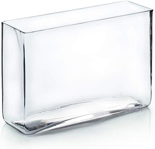 Rectangular Plant Terrarium Decorative Clear Glass Block Vase 7 x 11 Inch