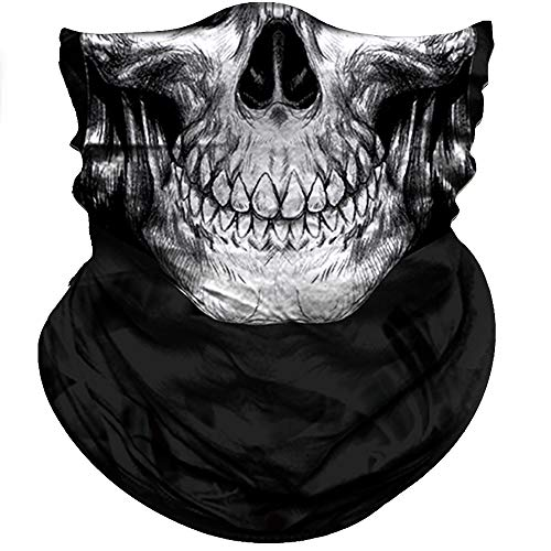 Obacle Half Face Mask Sun Dust Wind Protection Durable Tube Face Mask Bandana Skull Skeleton Face Mask For Men Women Bike Riding Motorcycle Fishing Hunting Cycling Outdoor Sport Festival Many Patterns ()
