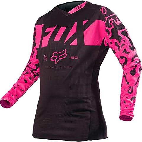 Fox Racing 2016 180 Women's Dirt Bike Motorcycle Jerseys - Black/Pink / Medium - Women Off Road Jerseys