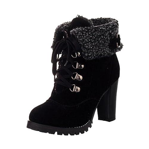 Botines Tacon de Cuña para Mujer Zapatos Plataforma por ESAILQ A: Amazon.es: Zapatos y complementos