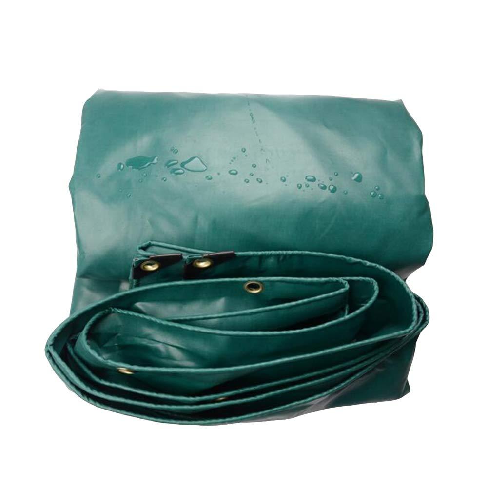 DALL ターポリン 防水 タープ 厚い ヘビーデューティー シートカバー アウトドア PVC 耐寒性 (色 : Green, サイズ さいず : 4*6m) 4*6m Green B07KTL1TMF