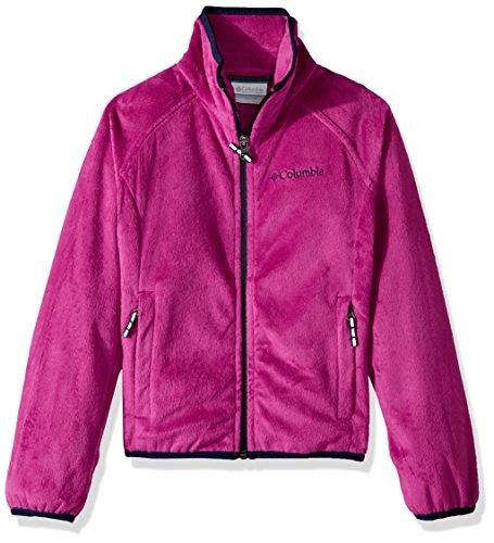 Columbia Girls' Big Pearl Plush Full Zip Jacket, Deep Blush, X-Large