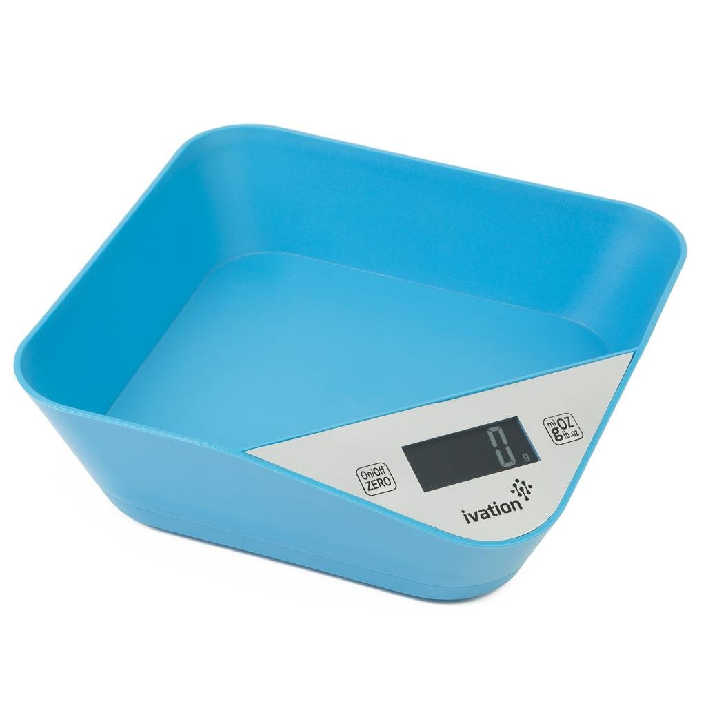 Amazon.com: Digital Kitchen Scale With Bowl – Lightweight, Blue ...
