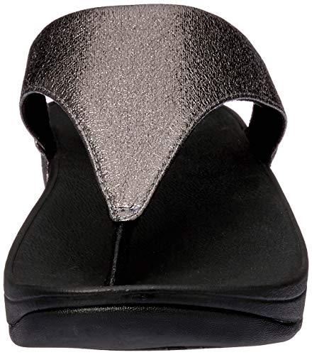 Ouvert Bout Femme pewter Fitflop Argenté Sandales Metal Molten 054 Lulu wqxwnCSU6v