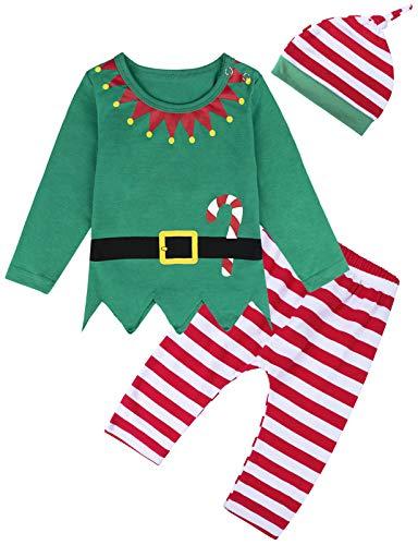 MOMBEBE COSLAND Kerstkledingset voor babyjongens en meisjes, 0-24 maanden