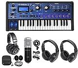 micro mixer with phantom power - Novation MiniNova 37-Key USB MIDI Keyboard Synth+(2) Headphones+Studio Mic
