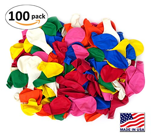 Yellow Assorted Balloon - Pack of 100, Assorted Bright Color 5