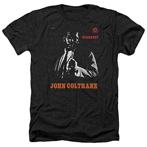 Trevco Men's John Coltrane Short Sleeve T-Shirt, Heather Black, Small from Trevco