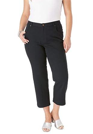 997c42a42d0 Jessica London Women s Plus Size L-Pocket Denim Capris at Amazon ...