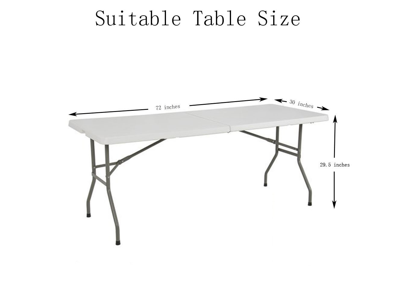 Tina 6' ft Polyester Fitted Tablecloth Table Skirt for Wedding Banquet Trade Show Black by Tina's (Image #2)
