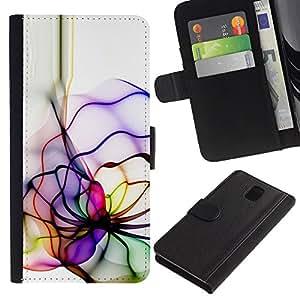 UNIQCASE - Samsung Galaxy Note 3 III N9000 N9002 N9005 - Neon Color Lines - Cuero PU Delgado caso cubierta Shell Armor Funda Case Cover