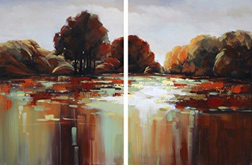 Asmork Abstract Oil Painting Landscaping Best Buy Gift- Art Galleries Wall Decor Landscape Modern Artwork, 31.547.2'' by Asmork