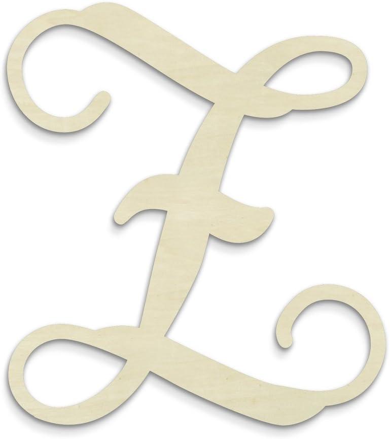 UNFINISHEDWOODCO Single Vine Unfinished Monogram Z Decorative Letter, 13-Inch