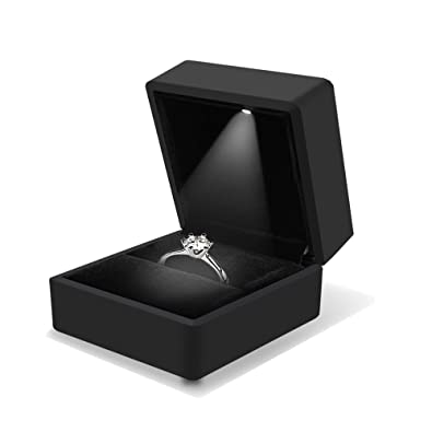 Amazon.com: mydio Negro arete Colgante box-jewelry ...