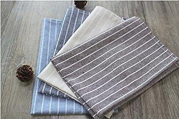K&C Encajes 100% toallas de lino mano y servilletas cosidos a mano de gran tamaño