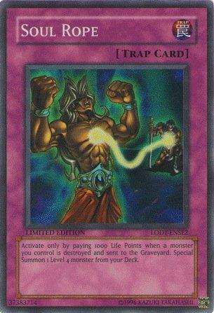 Yugioh LOTD-ENSE2 Soul Rope Super Rare Card [Toy]