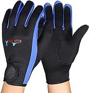 Diving Gloves, 1Pair/Set 3 Colors Scuba Diving Neoprene Gloves for Snorkeling Kayaking Surfing Water Sports (B