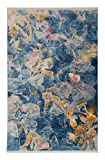 Cheap Antep Rugs Comfort Zone Collection Good Hope Floral Vintage Area Rug, 122″ L x 96″ W, Navy