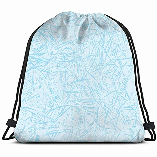 winter frosted glass frozen frost Drawstring Backpack Gym Sack Lightweight Bag Water Resistant Gym Backpack for Women&Men for Sports,Travelling,Hiking,Camping,Shopping Yoga