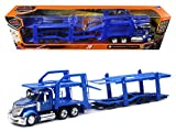 Maisto International Lonestar Blue with twin Auto Carrier 1/43 by New Ray