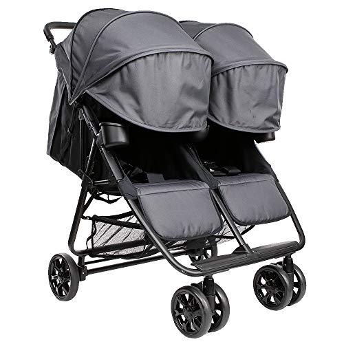 ZOE XL2 Best Double Stroller - Everyday Twin Stroller with Umbrella