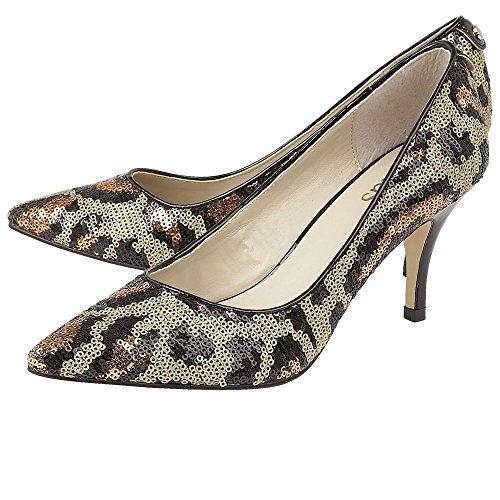 Sequins MOSTA Court Shoes Womens Leopard Dress Lotus gOxSTq