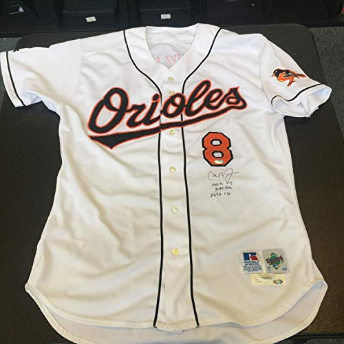 - 1999 Cal Ripken Jr Game Used Autographed Signed Baltimore Orioles Home Jersey With Memorabilia JSA