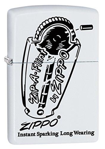 Zippo Zip (Zippo Lighter: Zippo Zip-A-Flint - White Matte 78327)