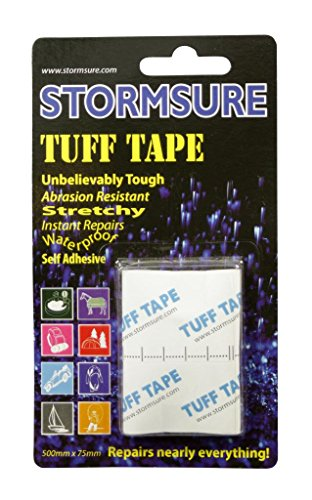 Stormsure 2 x Tuff Tape Waterproof Self Adhesive Pool Camping 50cmx75mm TUFF0.5 by Stormsure