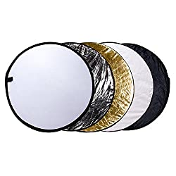 "Etekcity 32"" (80cm) 5-in-1 Portable Multi-disc Collapsible Photography Photo Reflector"