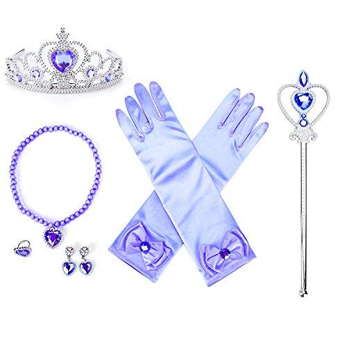 8 Pcs Girls Belle Princess Crystal Dress up