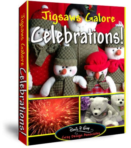 Jigsaws Galore Celebration! Puzzle Game for Windows PC: Puzzle Themes Include Christmas, Easter, Thanksgiving, Holidays, Parties, Fireworks, Teddy Bears, Snow Scenes, Romantic Scenes Plus Much (Celebration Jigsaw Puzzle)