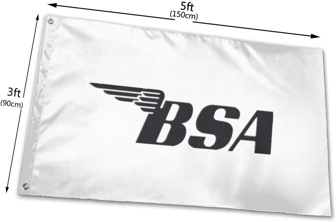 Noir Ioejhkjk BSA Banni/ère en Polyester pour Moto 7,6 x 12,7 cm Taille Unique Polyester