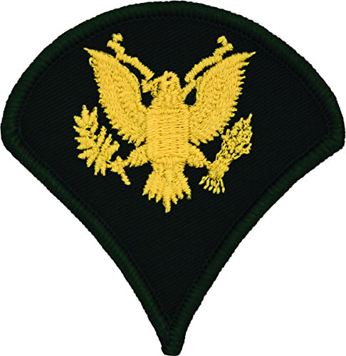 - Specialist E-4 Army Chevrons - Gold on Green (Male)