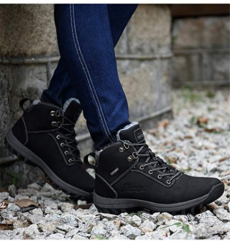 Viaggiare Escursionismo Pelle Sneakers Per Antiscivolo Campeggio Impermeabile Scarpe Giallo Cotone Outdoor In Stivali Da Trekking Uomo wxn1HIq7Tn