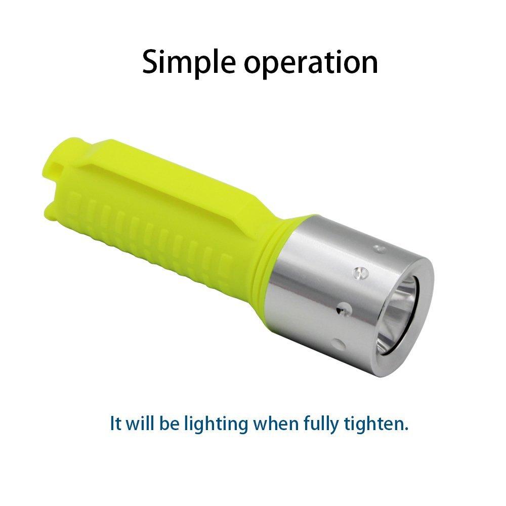 900 Lumens Submarine Light 80ft Waterproof Scuba Safety Lights Scuba Diving Light Diving Backup Light Night Snorkeling(Torch Only) Whaitfire Diving Flashlight